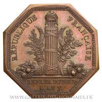 Médaille octogonale de député au Conseil des Anciens, législature de l'AN V