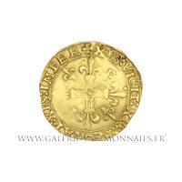Écu d'or au soleil, 5ème type, 3ème émission de 1519, ancre renversée Bayonne