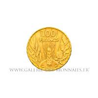 100 FRANCS OR Bazor, 1935