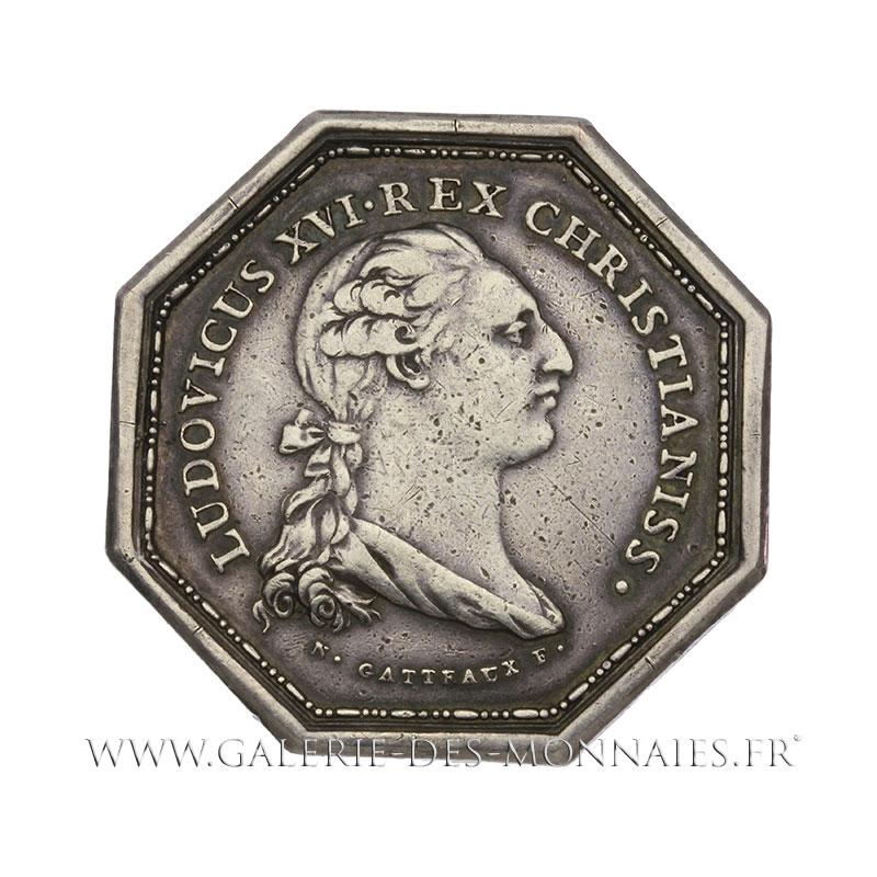Louis xvi 1774 1793 jeton octogonal chambre de commerce for Chambre de commerce italienne marseille