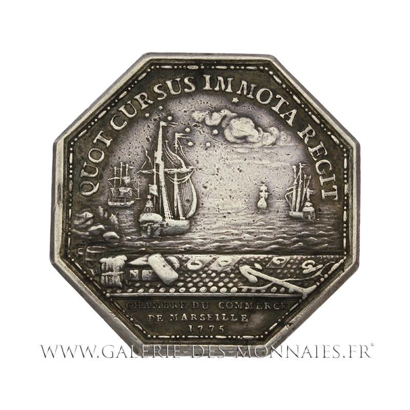 Louis xvi 1774 1793 jeton octogonal chambre de commerce for Chambre de commerce de marseille archives