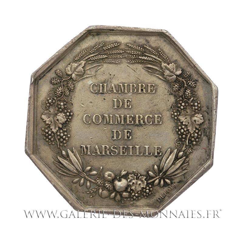 Napoleon iii 1852 1870 jeton otogonal chambre de for Chambre de commerce marseille horaires