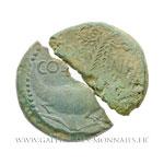 2 demi-dupondius COL NEM, As de Nîmes, groupe II, vers 8 - 3 av. J.-C.