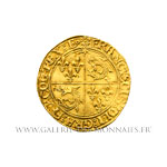 Écu d'or au soleil du Dauphiné, 2ème type, frappé à Grenoble (différent Rose)