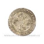 Demi-franc au col plat, 1587 X Amiens