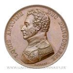 Médaille du Duc d'Angoulême, déclaration de Pont-St-Esprit 1815, par GAYRARD