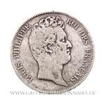 5 FRANCS Tête nue, sans le I, 1830 D Lyon, tranche en creux