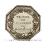 Jeton octogonal, Chambre de Commerce de Marseille par Dubois, non daté