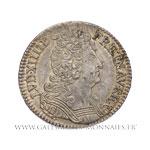 Demi-écu aux 3 couronnes, 1710 A Paris