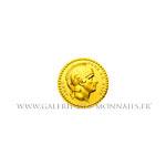 Médaillette en or, Quinaire Armé pour la Paix, hommage à Bonaparte 1803.