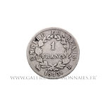 1 FRANC au revers EMPIRE 1813 B Rouen