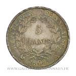 5 FRANCS Napoléon, tête laurée RÉPUBLIQUE, 1808 A Paris