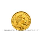 20 FRANCS OR Napoléon III, tête laurée, 1864 BB Strasbourg variété grand BB