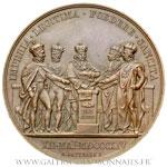 Médaille du premier Traité de Paris le 12 mai 1814, par ANDRIEU et GATTEAUX