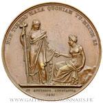 Médaille, la confiance en l'Église 1821, par GAYRARD et LEVEQUE
