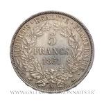 5 FRANCS Cérès avec légende, 1851 A Paris