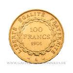 100 FRANCS OR Génie, 1901 A Paris