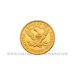 5 DOLLARS OR Liberty 1895 Philadelphie