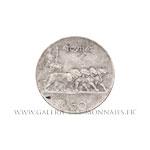 50 CENTISIMI Victor Emmanuel III,  tranche lisse, 1924 R Rome